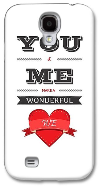 Love Lyrics Quotes Typography Quotes Poster Galaxy S4 Case by Lab No 4 - The Quotography Department