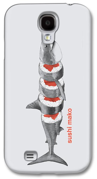 Sharks Galaxy S4 Case - Sushi Mako by Eric Fan