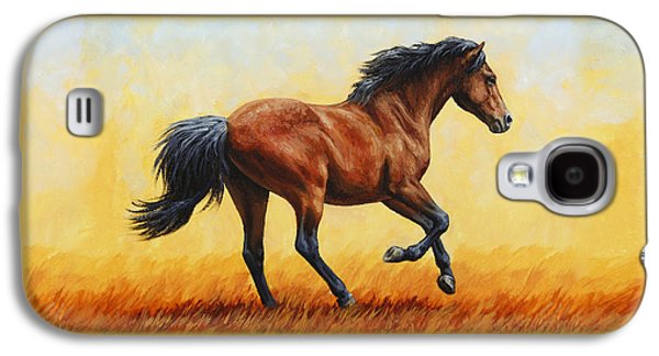 Running Horse - Evening Fire Galaxy S4 Case by Crista Forest