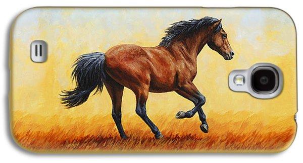 Running Horse - Evening Fire Galaxy S4 Case
