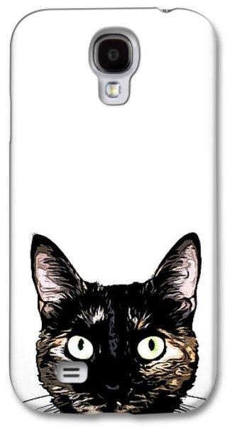 Peeking Cat Galaxy S4 Case