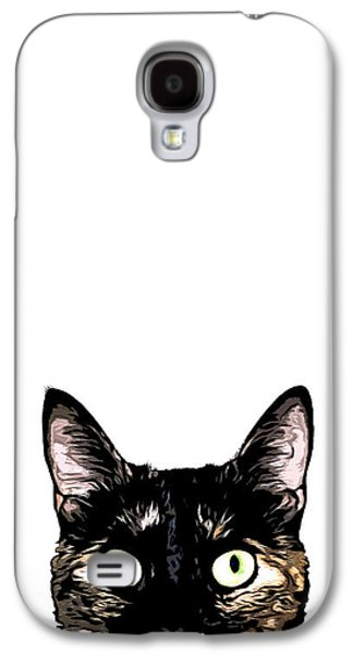 Cat Galaxy S4 Case - Peeking Cat by Nicklas Gustafsson