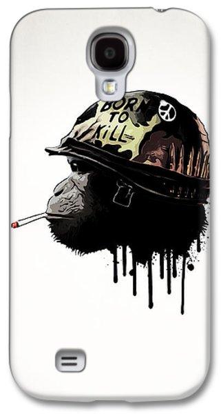 Monkey Galaxy S4 Case - Born To Kill by Nicklas Gustafsson