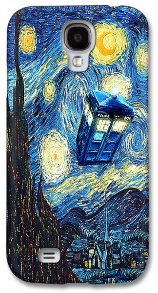 Weird Flying Phone Booth Starry The Night Galaxy S4 Case