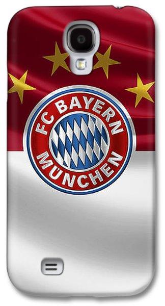 F C Bayern Munich - 3 D Badge Over Flag Galaxy S4 Case by Serge Averbukh