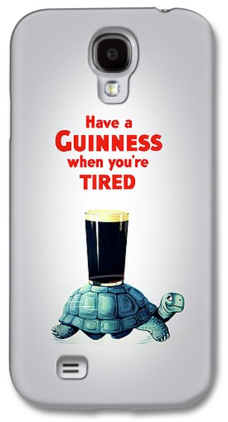 Beer Galaxy S4 Case - Guinness When You're Tired by Mark Rogan