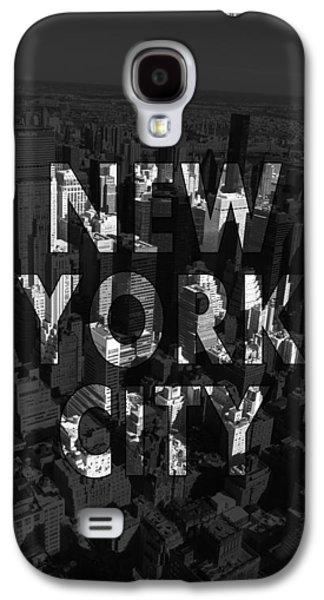 New York City - Black Galaxy S4 Case