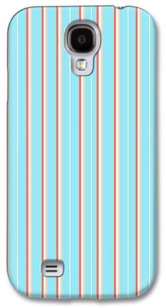 Blue Stripe Pattern Galaxy S4 Case