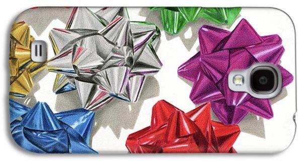 Christmas Bows Galaxy S4 Case by Sarah Batalka