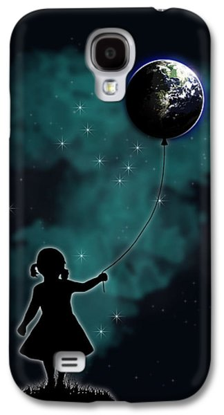 Balloons Galaxy S4 Cases - The Girl That Holds The World Galaxy S4 Case by Nicklas Gustafsson