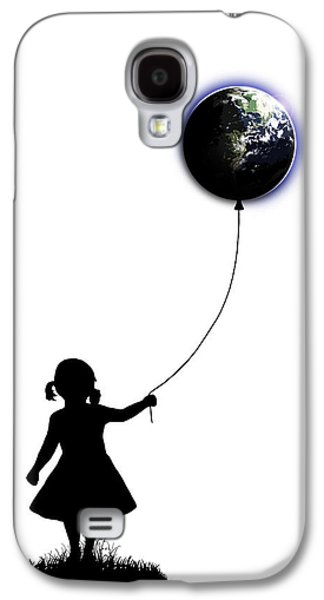 The Girl That Holds The World - White  Galaxy S4 Case