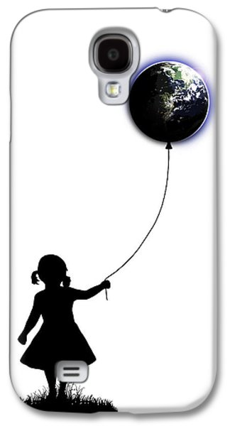 Girl Galaxy S4 Cases - The Girl That Holds The World - White  Galaxy S4 Case by Nicklas Gustafsson