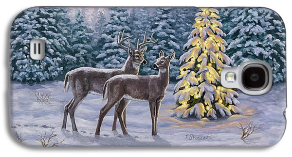 Whitetail Christmas Galaxy S4 Case by Crista Forest