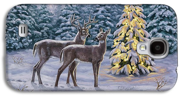Whitetail Christmas Galaxy S4 Case