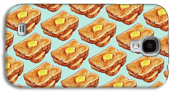 Buttered Toast Pattern Galaxy S4 Case