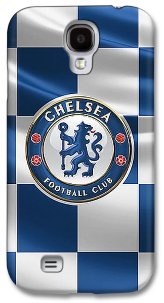 Chelsea F C - 3 D Badge Over Flag Galaxy S4 Case by Serge Averbukh