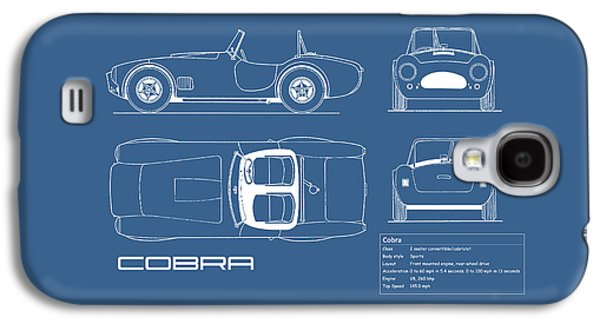 Ac Cobra Blueprint Galaxy S4 Case by Mark Rogan