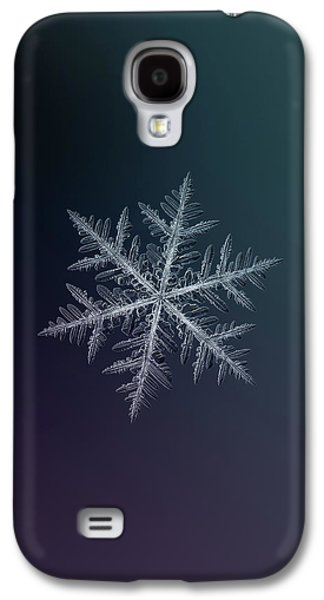 Snowflake Photo - Neon Galaxy S4 Case
