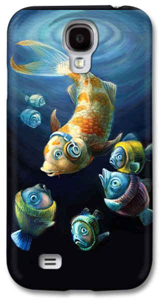 Easy Listening Streaker Fish Among The Sweater Fish Galaxy S4 Case by Vanessa Bates