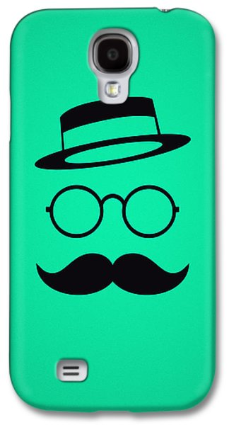 Retro Minimal Vintage Face With Moustache And Glasses Galaxy S4 Case by Philipp Rietz