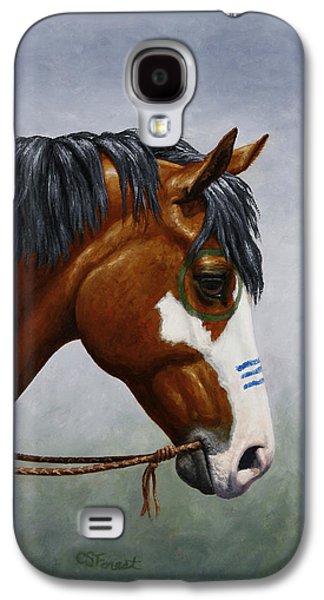 Bay Native American War Horse Galaxy S4 Case