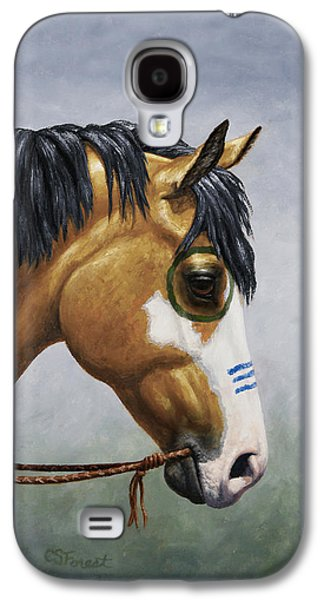 Buckskin Native American War Horse Galaxy S4 Case by Crista Forest