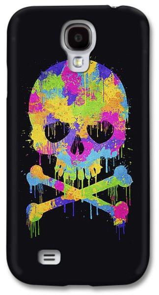 Abstract Trendy Graffiti Watercolor Skull  Galaxy S4 Case