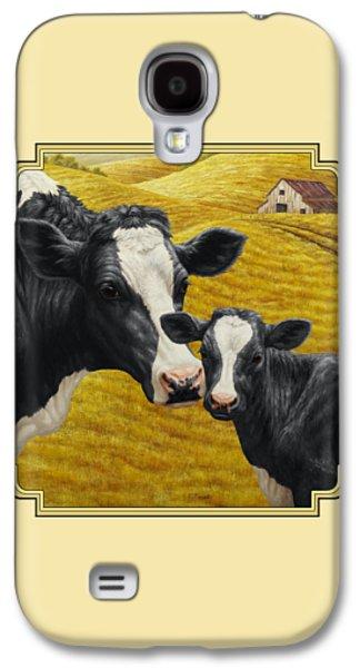 Holstein Cow And Calf Farm Galaxy S4 Case
