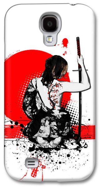 Trash Polka - Female Samurai Galaxy S4 Case by Nicklas Gustafsson