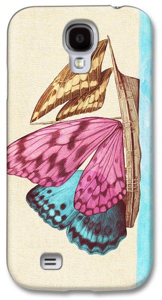 Butterfly Ship Galaxy S4 Case by Eric Fan
