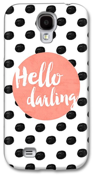 Hello Darling Coral And Dots Galaxy S4 Case