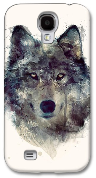 Wolf // Persevere Galaxy S4 Case by Amy Hamilton