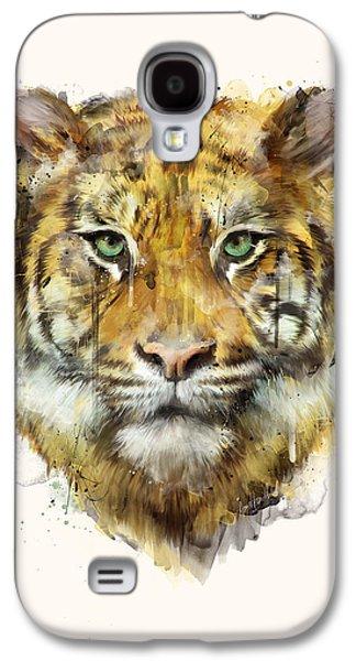 Tiger // Strength Galaxy S4 Case by Amy Hamilton