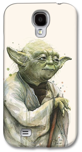 Yoda Portrait Galaxy S4 Case by Olga Shvartsur