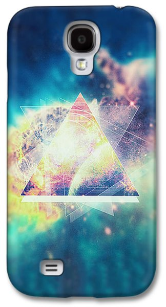 Awsome Collosal Deep Space Triangle Art Sign Galaxy S4 Case by Philipp Rietz