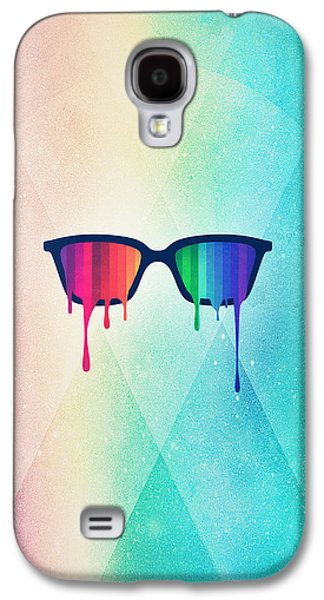 Love Wins Rainbow - Spectrum Pride Hipster Nerd Glasses Galaxy S4 Case