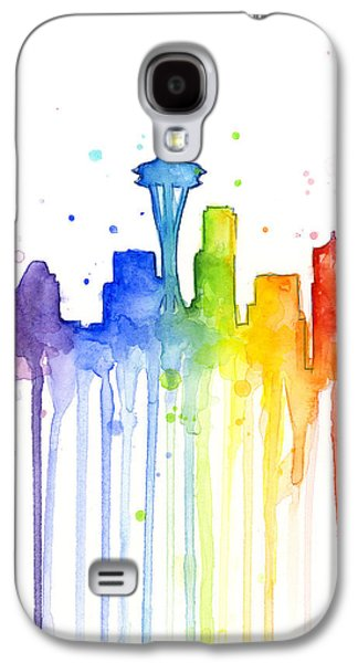 Seattle Rainbow Watercolor Galaxy S4 Case