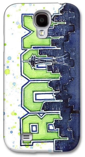 Seattle 12th Man Legion Of Boom Painting Galaxy S4 Case by Olga Shvartsur