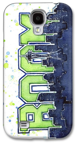 Seattle Galaxy S4 Case - Seattle 12th Man Legion Of Boom Painting by Olga Shvartsur