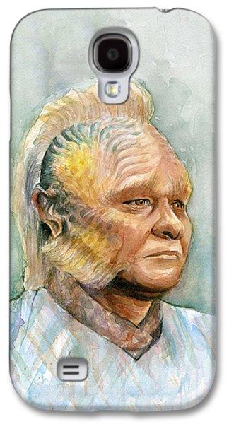 Neelix Star Trek Voyager Watercolor Galaxy S4 Case by Olga Shvartsur