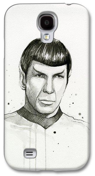 Spock Watercolor Portrait Galaxy S4 Case