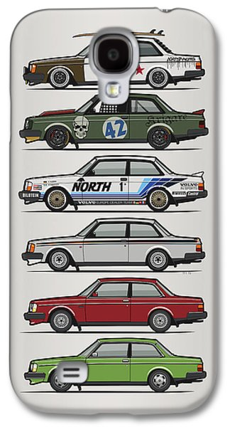 Stack Of Volvo 242 240 Series Brick Coupes Galaxy S4 Case by Monkey Crisis On Mars