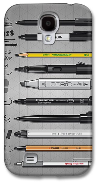 Pen Collection For Sketching And Drawing Galaxy S4 Case by Monkey Crisis On Mars