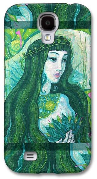 The Mermaid, Acrylic Painting, Fantasy Art Galaxy S4 Case by Julia Khoroshikh