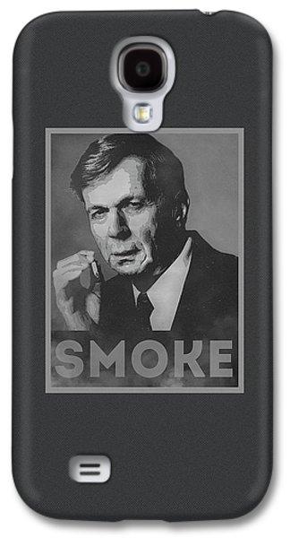 Smoke Funny Obama Hope Parody Smoking Man Galaxy S4 Case by Philipp Rietz