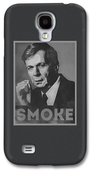 Smoke Funny Obama Hope Parody Smoking Man Galaxy S4 Case