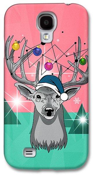 Christmas Deer Galaxy S4 Case by Mark Ashkenazi