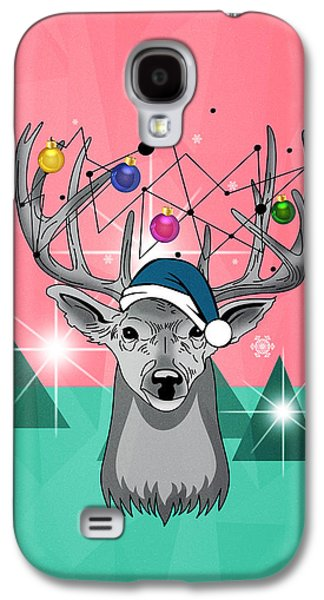 Christmas Deer Galaxy S4 Case by Mark Ashkenazi