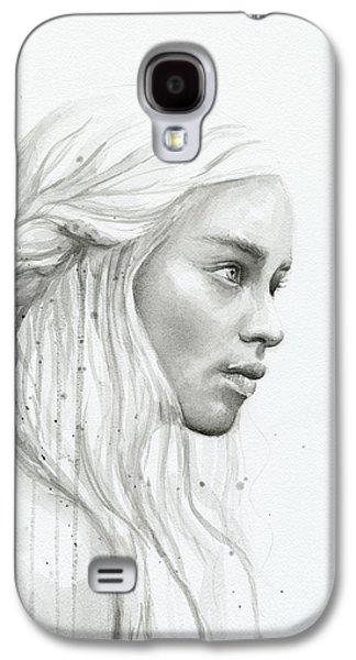Dragon Galaxy S4 Case - Daenerys Watercolor Portrait by Olga Shvartsur