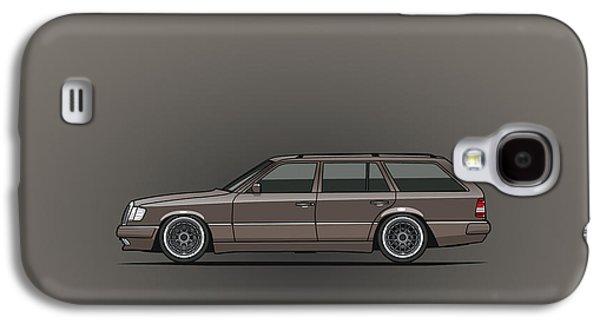 Mercedes Benz W124 E-class 300te Wagon - Anthracite Grey Galaxy S4 Case by Monkey Crisis On Mars